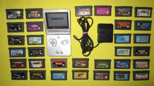 Gameboy Advance Sp Completo Con 32 Juegos De Gameboy Advance