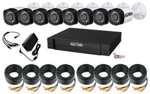 Kit 8 Camaras Hd 720p Saxxon Cables 20m Y Accesorios