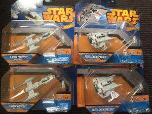 Naves Star Wars De Hot Wheels (y-wing, Rebel Snowspeeder)