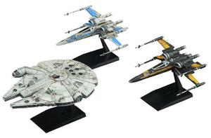 Set 3 Naves Armar Resistance Vehichle Set Star Wars Bandai
