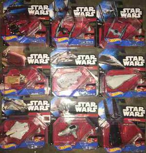 Set De 9 Naves Star Wars Hot Wheels Nuevas Envio Gratis