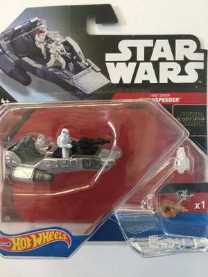 Star Wars Hot Wheels Snowspeeder First Order Nuevo Sellado