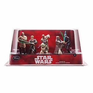 Star Wars Jedi Set Figuras 6 Piezas Disney Store Nuevo