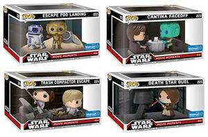 Star Wars Movie Moments 4x2-pack Funko Pop No Last Jedi