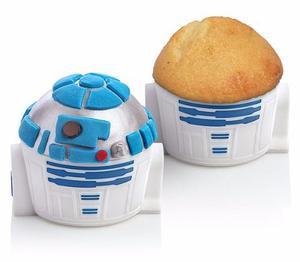 Star Wars R2-d2 Set 4 Moldes Para Cupcakes Nuevos
