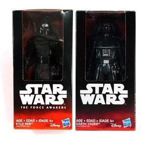 Starwars Paquete Darth Vader Y Kilo Ren 15 Cm Figura Nuevo