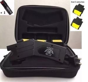 Stun Gun Paralizador Police Oc- Mill V Con 5 Cartuchos