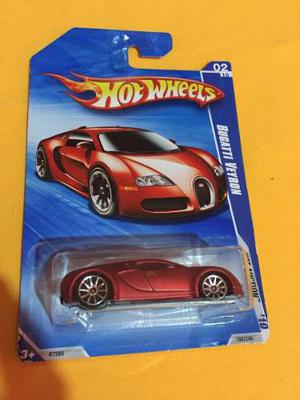 Bugatti Veyron Rojo Satin - Hot Wheels