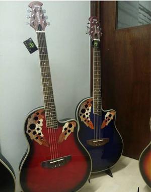 Guitarr Electroacustica Tipo Ovation Sin Boca