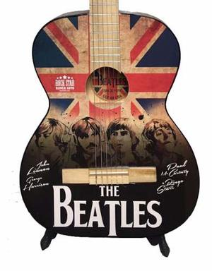 Guitarra Acustica Estampada Beatles Azul