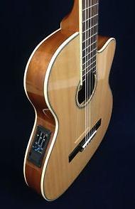 Guitarra Electroacustica Caraya Delgada Natural C-551bceqn