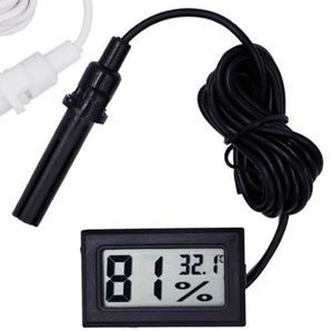 Higrometro Negro Digital Con Sonda De 1 Metro Termometro