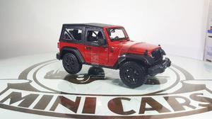 Jeep Wrangler  Rojo 1/18 Maisto Autos A Escala Metal