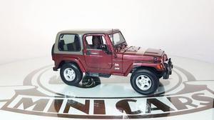 Jeep Wrangler Sahara Vino 1/18 Maisto Autos A Escala Metal