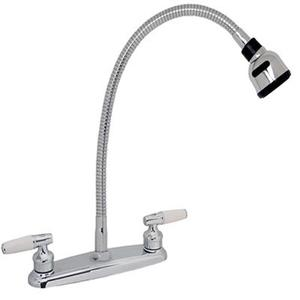 Llave fregadero individual con grifo flexible solo posot for Repuesto llave monomando