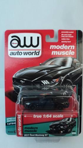 * Mustang Gt* Negro,  Auto World 1:64 Moderm Muscle