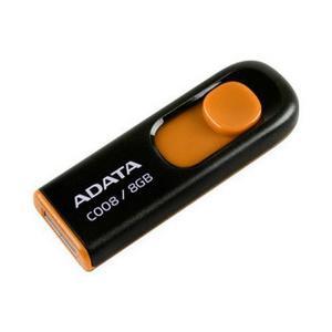 Adata Memorias Usb 8gb Retractil 2.0 C008 Naranja Con Negro