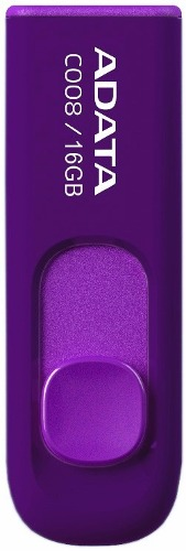 Adata Memorias Usb Portatil 16gb Retractil 2.0 C008 Morada