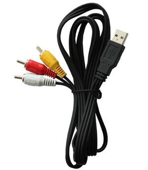 Cable 3 Plugs Rca A Usb Videocamaras Longitud 1.80 Metros