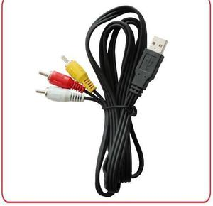 Cable De Transferencia 3rca A Usb Para Videocamara 1.80 Mt