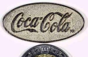 Coca Cola Plaquita Metálica Sin Respaldo De Pin