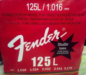 Cuerdas Para Bajo 5 Cuerdas Fender  Studio Bass 125l