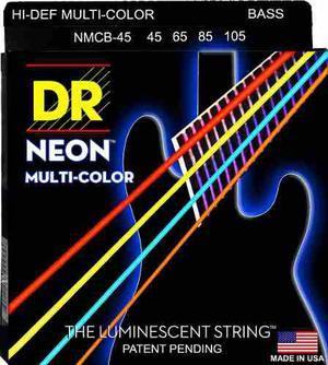 Dr Cuerdas 4 Bajo Neon Multi Color  Fosforecentes Bass