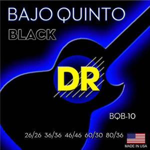Dr Cuerdas Bajo Quinto Neon Color Negro Bqb10 Fosforescente