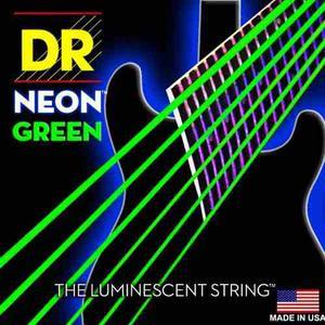 Dr Nge- Cuerdas Para Guitarra Color Neon Verde