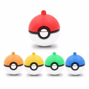Memoria Usb 16gb Figura Pokebola Colores Pikachu Pokemon