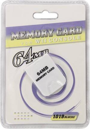 Tarjeta De Memoria De 64 Mb Para Wii/gamecube En Igamers