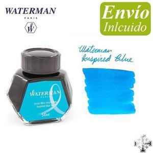 Tinta Waterman 50 Ml. Color Turquesa. Envío Incluido.