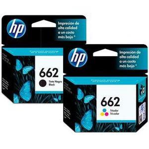 Dual Pack Original De Tinta Negra Y Color Hp 662 Advantage