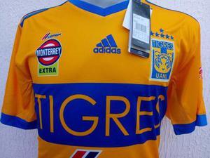 Jersey Playera Tigres De Campeón Con 6 Estrellas