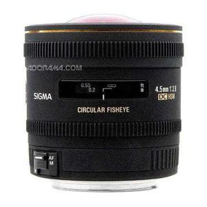 Lente De Ojo De Pez Circular Sigma 4.5mm F / 2.8 Ex Dc Hsm