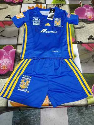 Uniforme Jersey Playera Tigres Visita  Niño