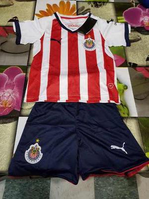 Uniforme Playera Jersey Chivas Guadalajara Local  Niño