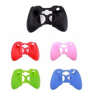2 Fundas Silicon Control Xbox 360 Y 4 Grips Varios Colores