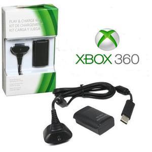 5 Kit Carga Y Juega Xbox 360 Horas  Mah Cable Y Batería
