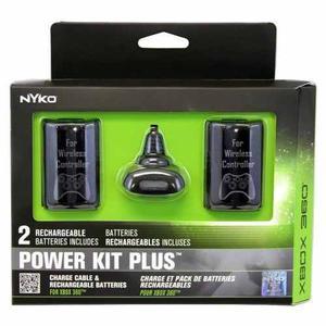 Carga Y Juega 2 Baterias Cable Original Nyko Xbox 360