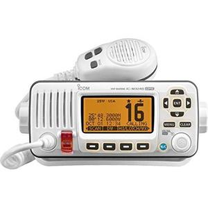 Icom Ic-m324g 22 Radio Vhf Marina Con Gps En Color Blanco
