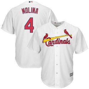 Jersey Beisbol Cardenales De San Luis Blanca Yadier Molina 4