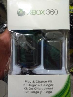 Kit Carga Y Juega 3 En 1 Xbox 360 Envio Gratis