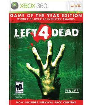 ..:: Left 4 Dead Para Xbox 360::.. En Gamewow