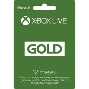 Membresia 12 Meses Live Gold Para Xbox One Y Xbox 360
