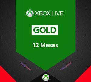 Membresia Xbox Live Gold 12 Meses One 360 Bono Ea Access