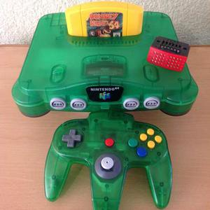 Consola Nintendo 64 Verde Jungle Green Donkey