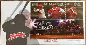 Mexico  Beisbol Diablos Set Timbres En Sobre Fdc 1er Dia