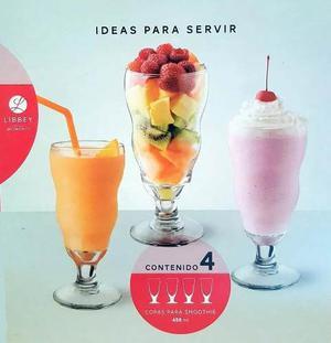 4 Copas Vasos Smoothie Crisa By Libbey
