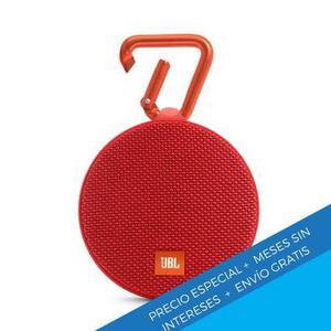 Bocina Portátil Bluetooth Jbl Clip 2 Roja A Prueba De Agua